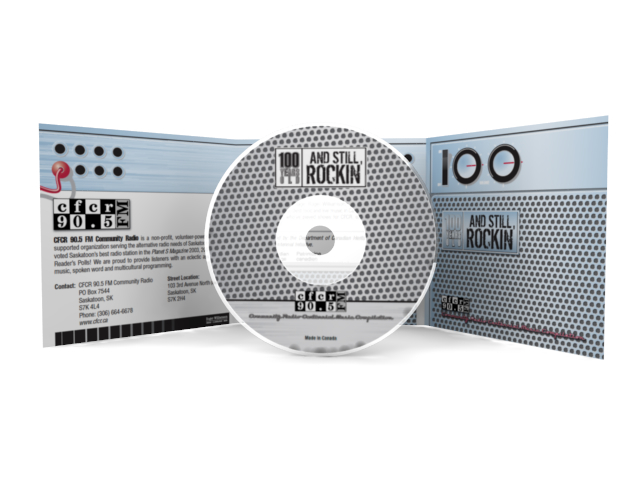 3D render of CD and CD case