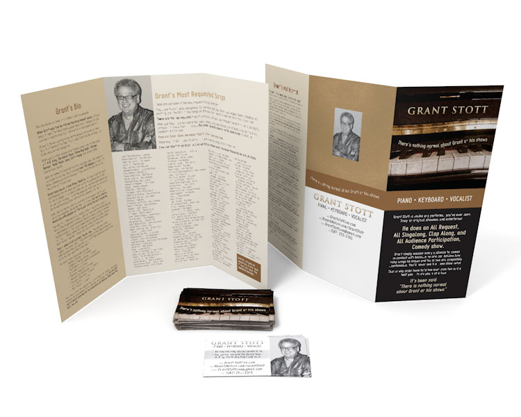 Grant Stott brochure and business card
