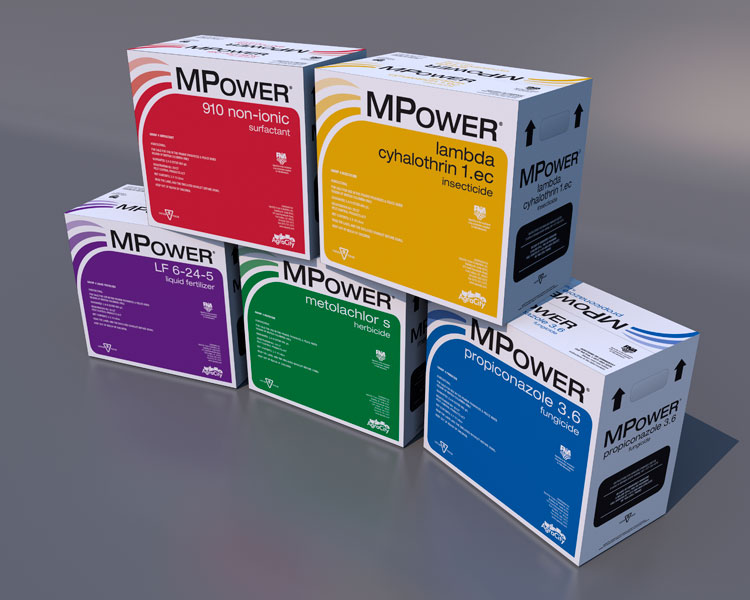 3D render of box packaging design