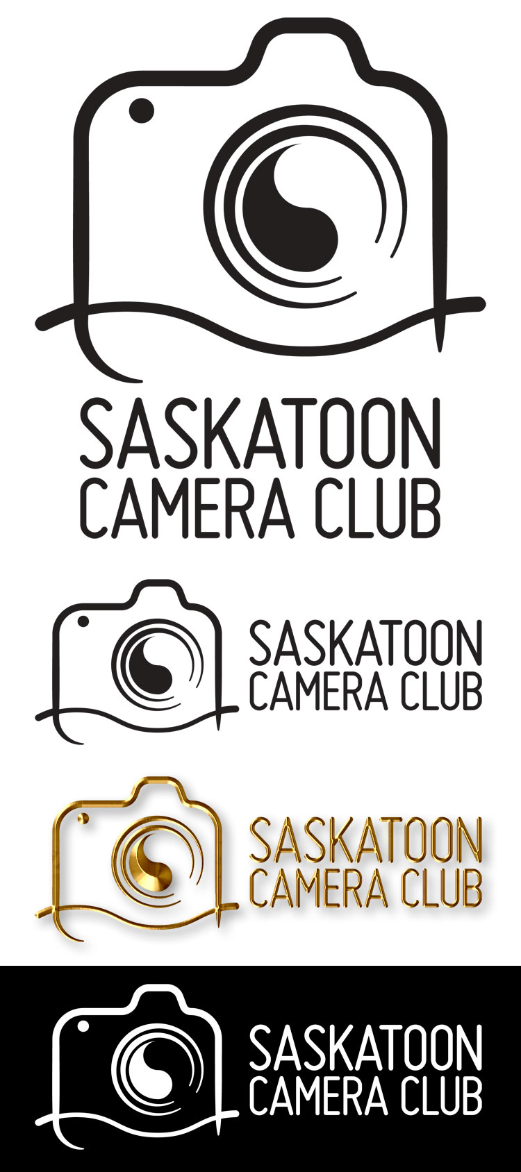 Saskatoon Camera Club logo with variations