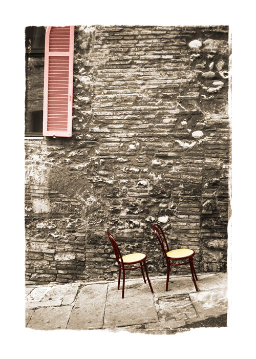 Chairs in Assisi, Italy