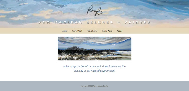 Pam Maclean Belcher website - Home page