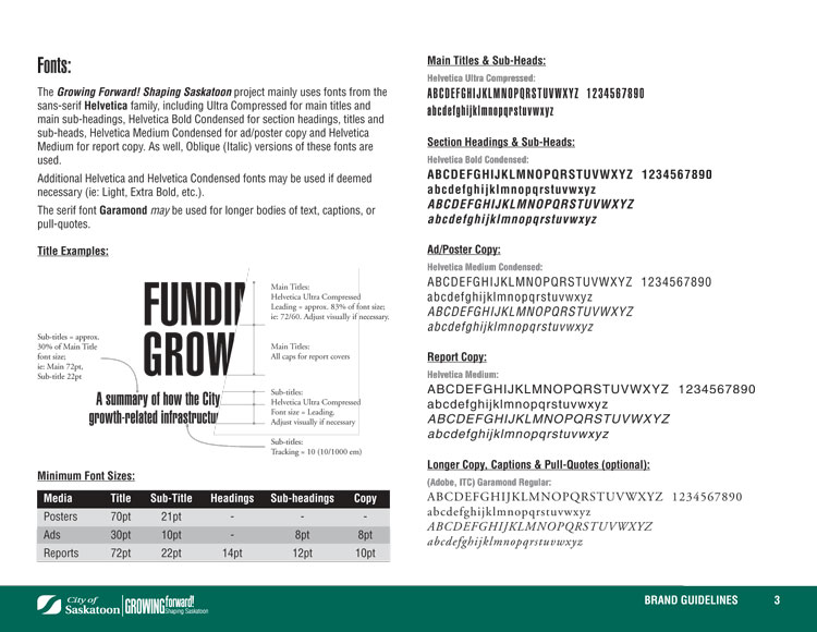 Growth Plan Brand Guidelines, interior page