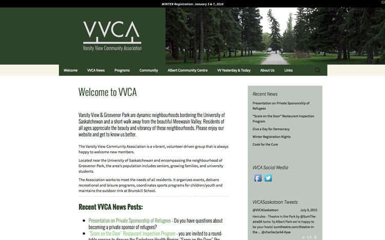 Varsity View Community Association website