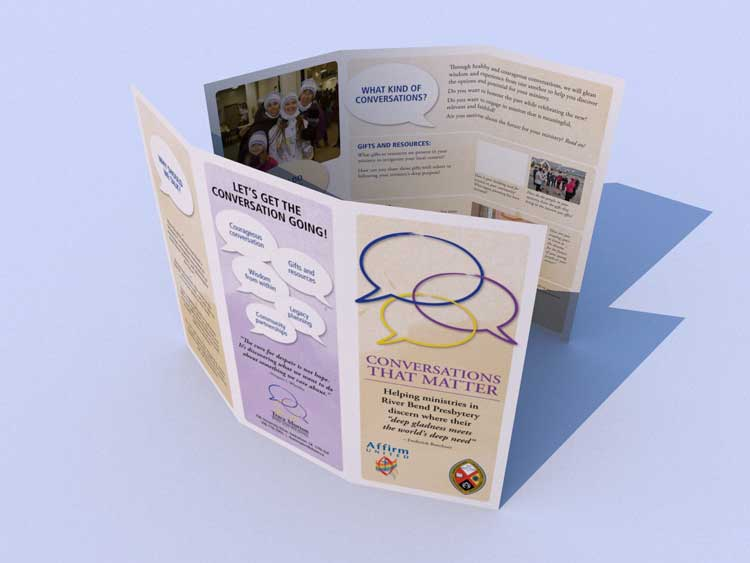 Brochure for Riverbend Presbytery / Tracy Murton detailing conversational services and purpose. Also included logo design.